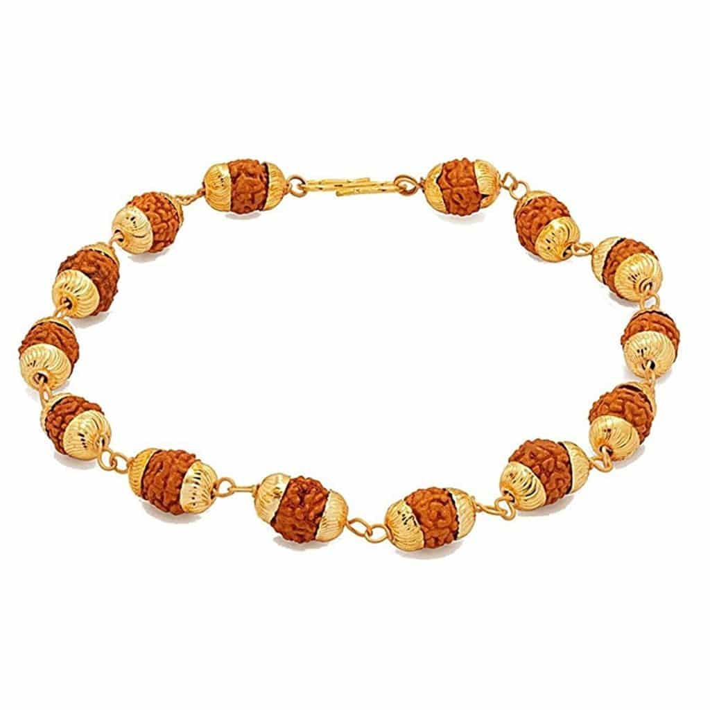 Abhimantrit Rudraksha Bracelet 22k Gold Plated Online Ping At Low Price In India